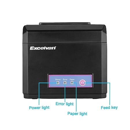 Excelvan Hop E801- Impresora Térmica de Recibos y Billetes (USB y ...