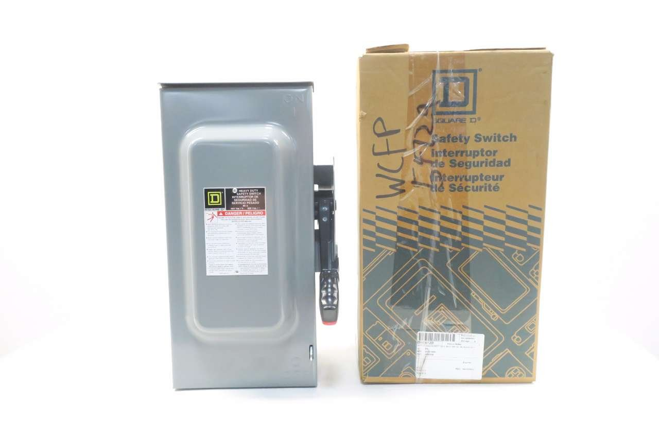 NEW SQUARE D H362RB 60A 600V-AC 3P FUSIBLE SAFETY DISCONNECT SWITCH D537667 by Square D (Image #1)