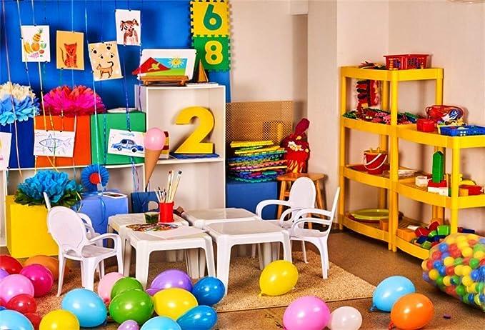 BuEnn 9x6ft Guardería Niños Playhouse Fondo Interior para ...