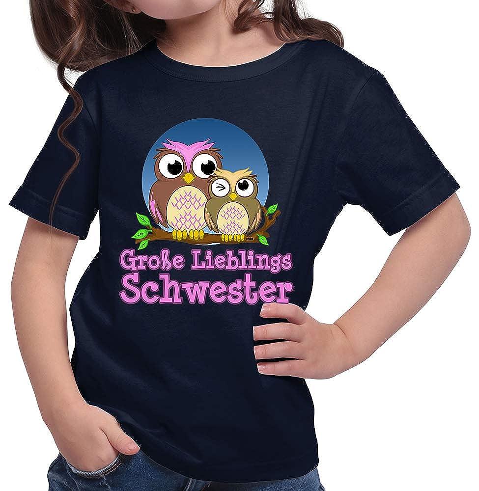 HARIZ  M/ädchen T-Shirt Gro/ße Lieblings Schwester Eule Gro/ße Schwester Geburtstag Bruder Ostern Plus Geschenkkarten