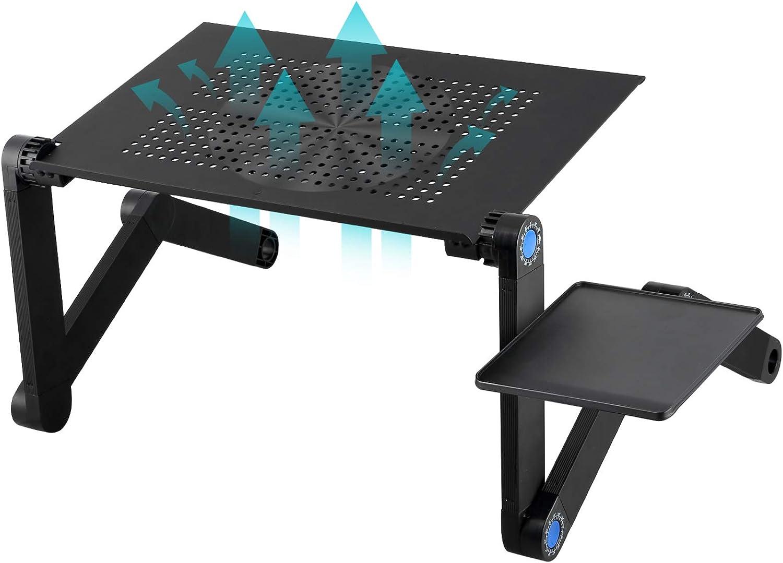 Support Ordinateur Portable Table Lit Canapé Outdoor Plateau Ventilateur Souris