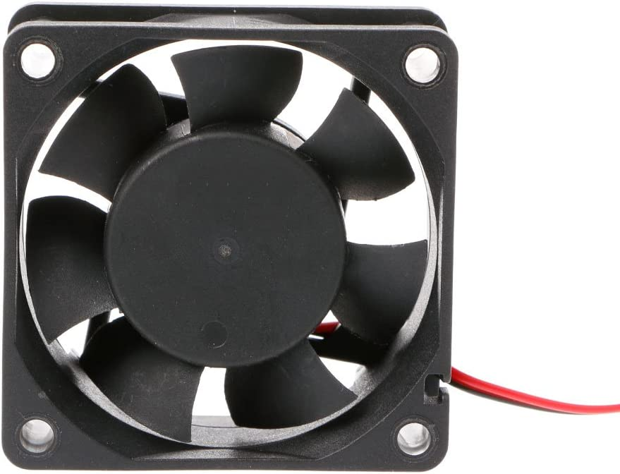 Yintiod 6025 Ventilateur PC 60 mm /× 60 mm /× 25 mm DC 12 V 24 V 2 Broches Ventilateur PC sans balais 60 /× 60 /× 25 mm 12V