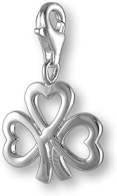 MELINA Charm Anhänger Kleeblatt Silber 925