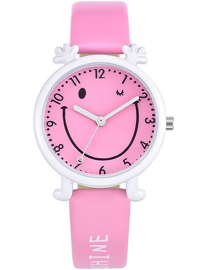 KEZZI - Reloj de Pulsera Cuarzo con Cara Sonriente para Niños ...
