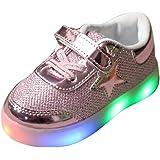 Sunching Garçons Filles Prewalk Chaussures LED Lingt Up Sneaker