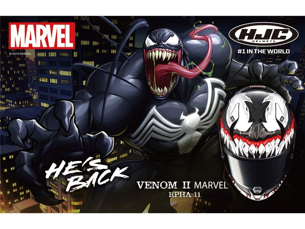 Amazon.es: HJC RPHA 11 VENOM MARVEL II MC1 XS
