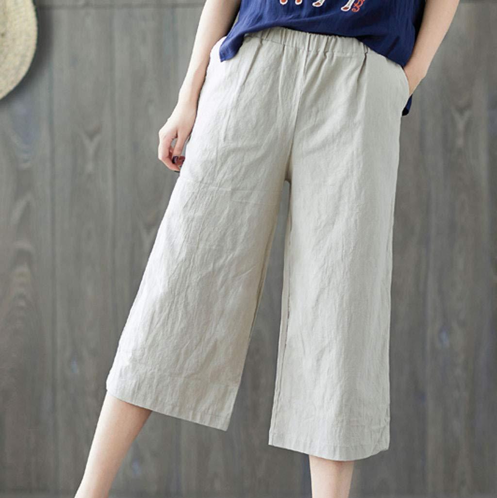 Amazon.com: Lefthigh - Pantalones de lino y algodón para ...