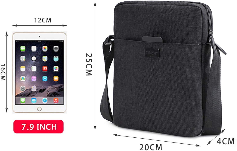 Canvas MenS Shoulder Bag For 7.9 Ipad Casual Crossbody Bag Waterproof Messenger Bag Pack 0.13Kg