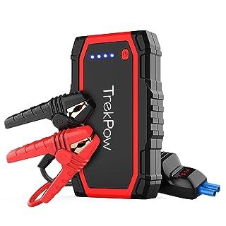 UL Certifi/é Kit Pinces Crocodiles Jusqu/à 4,0L de Essence 2,0L Diesel Robuste Jump Starter avec USB et Lamp LED 600A 12000mAh IP66 /Étanche Booster de Batterie Voiture Moto YABER Booster Batterie