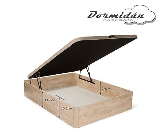 Dormidán - Pack de canapé abatible de Gran Capacidad + colchón viscoelástico + Almohada visco Copos de Regalo (150_x_190_cm, Blanco): Amazon.es: Hogar