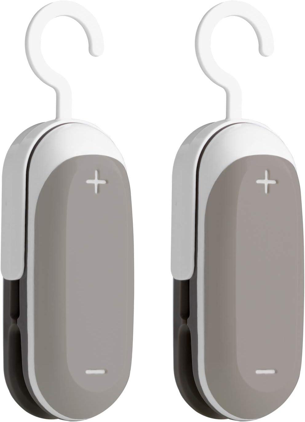 Aotesbu Mini Bag Sealer, 2PACK Portable 2 in 1 Heat Vacuum Sealers, Plastic Sealer, Cutter Handheld with Detachable Hook, Food Storage Snack Fresh For Plastic Bags Food Storage