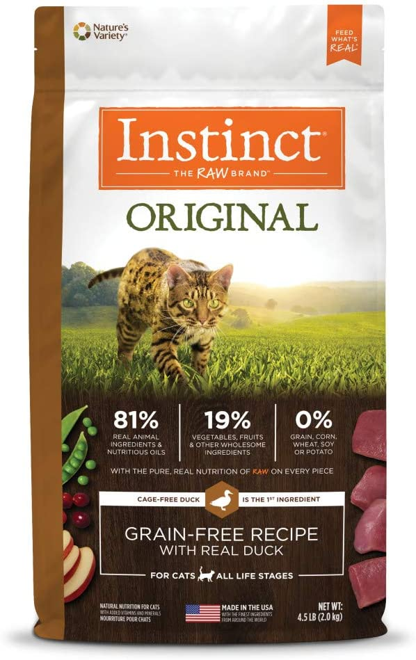 Instinct Grain Free Dry Cat Food, Original Raw Coated Natural High Protein Cat Food