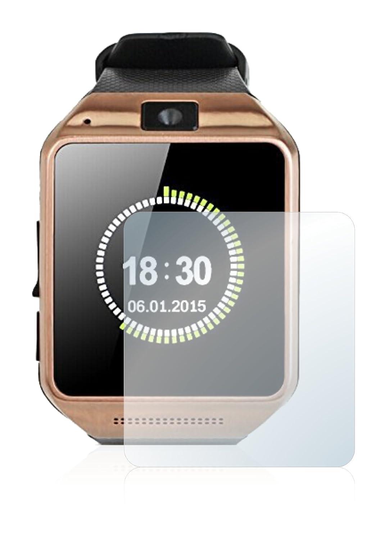 brotect Protector Pantalla Cristal Compatible con Gearmax Smartwatch DZ09 Protector Pantalla Vidrio Dureza 9H AirGlass