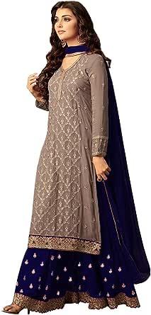 Ziya Indian Pakistani Dresses for Women Palazzo Style Embroidered Salwar Kameez Suit 47001