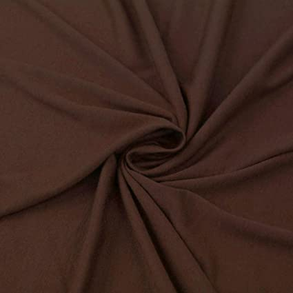 7001ba4929c Amazon.com: Brown Poly Rayon Spandex Stretch Jersey Knit Fabric By ...