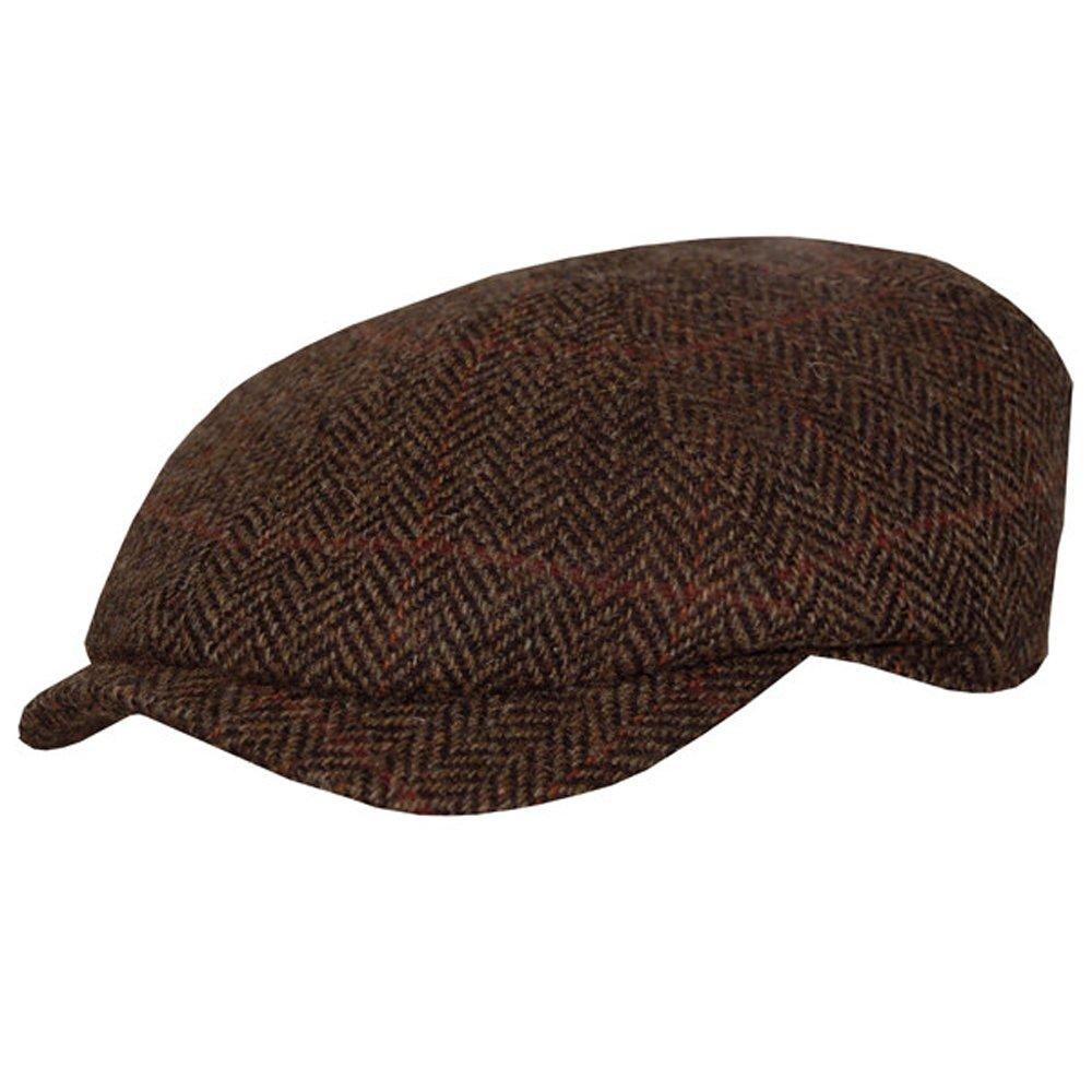 Wigens William Harris Slim Newsboy Tweed Herringbone Cap-BrownHerringbone-56  at Amazon Men s Clothing store  460dbf524683