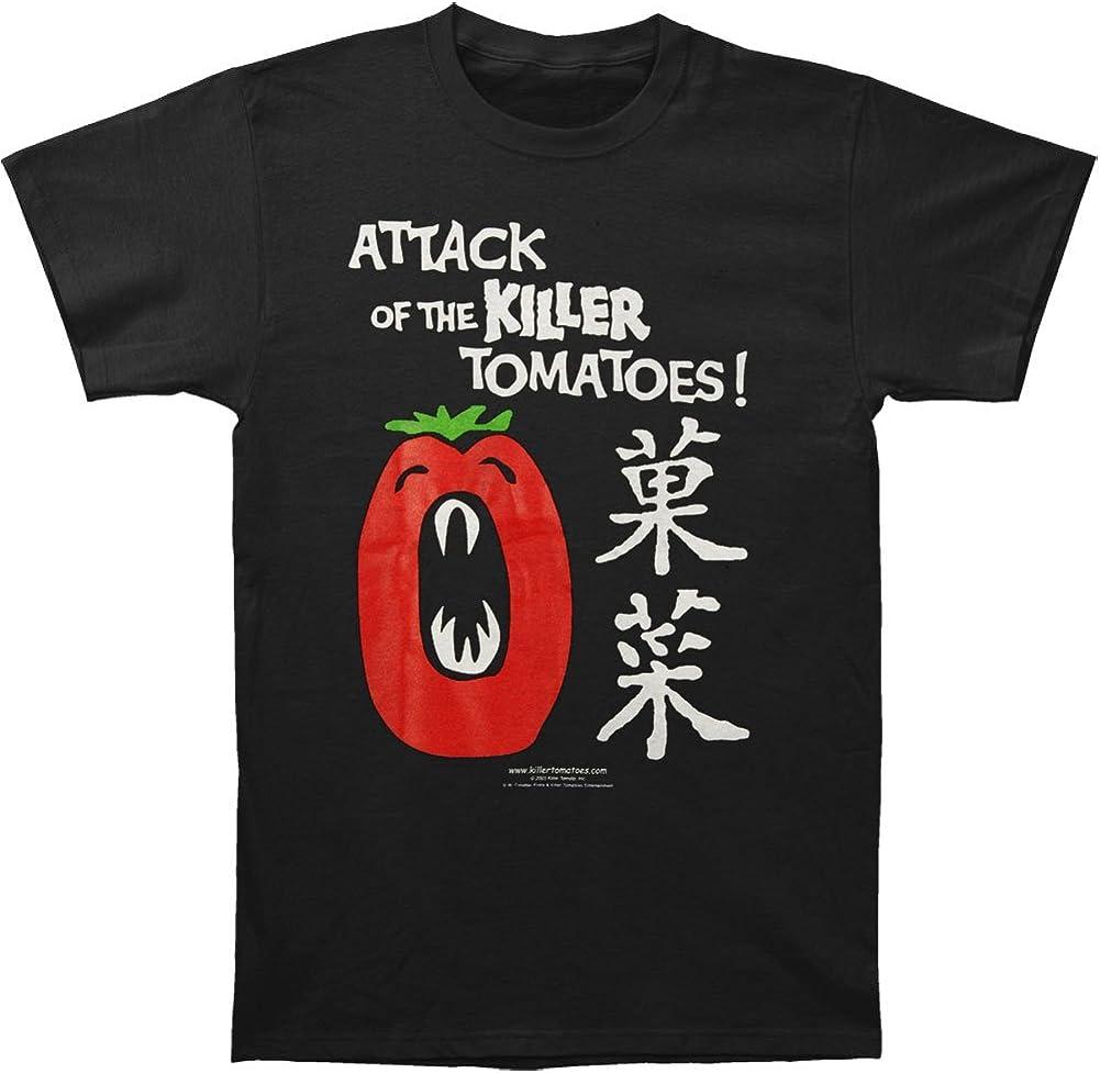 Hi Fidelity Attack of The Killer Tomatoes Men's Japanese Tomatoes T-Shirt Black