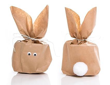 5 Stück Set Kleine Ostern Geschenktüten Osterhase Basteln Natur Braun 165 X 26 X 66 Cm Witzige Ostertüte Verpackung Kinder Erwachsene Als