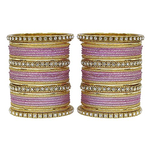 MUCH-MORE Fabulous Collection of Multi Color Crystal Bangles Set Indian Jewellery for Women