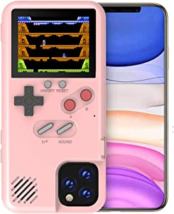 Game Case for iPhone X, VOLMON Shockproof Case 3D Cover for iPhone X, 36 Classic Games Case with Color Display, Pretty Girl Case Funny Phone Case for iPhone X/Xs, 5.8 Inch