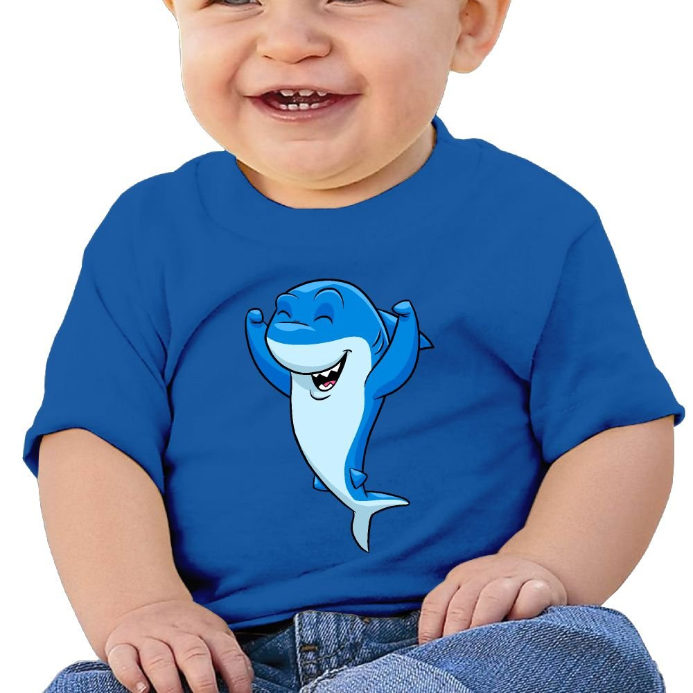 Arsmt Baby Girls Toddler//Infant Short Sleeve Happy Cute Shark T-Shirt
