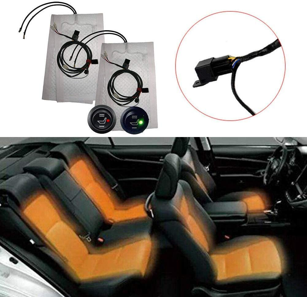 Carbon Fiber Seat Heater Kit Car Heated Seat Heater Pad Auto seat Heated Car Seats Warmer Mat With Switch