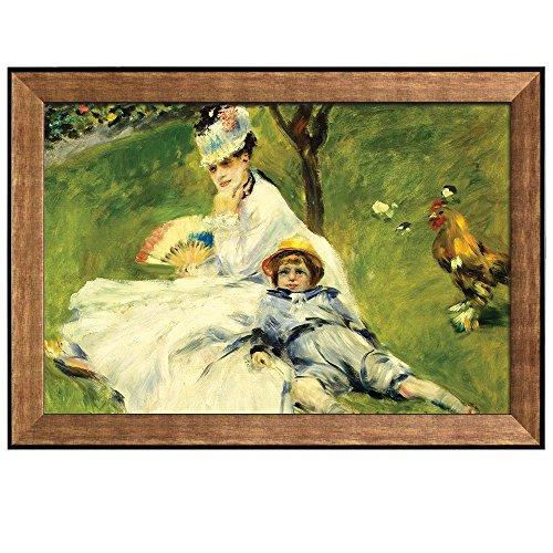 Madame Monetand her Son by Pierre Auguste Renoir Framed Art