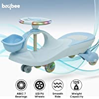 Baybee Lexcen Swing Cars for Kids-Strongest & Smoothest Twister-Magic Car Ride ons for Kids with PU Wheels-Kids Ride on Push car for Kids Babies Suitable Age 2 Years and Up Boy's and Girl's (Blue)