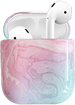 Amazon Com Taosings Compatible Airpods Case Cover Marble Cute