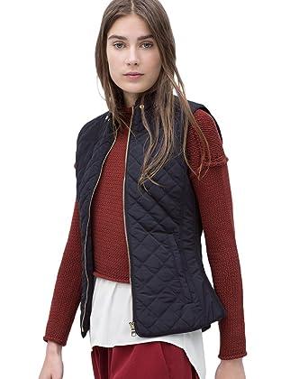 CHENGYANG Chalecos sin manga Abrigos Acolchados Chaquetas con cremallera invierno para mujer Armada Asia L/EU46: Amazon.es: Ropa y accesorios