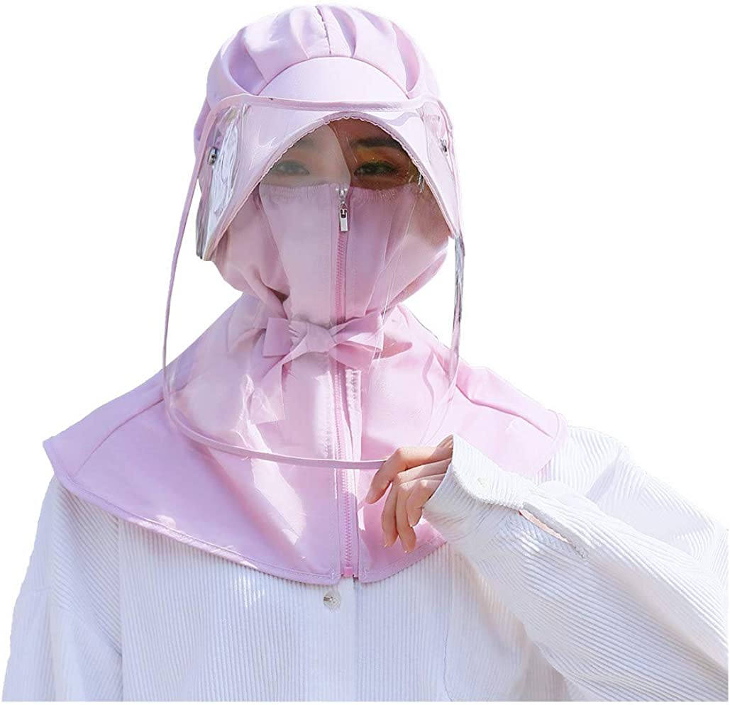Feytuo Tapa Protectora Anti-Saliva, antivaho Cubierta máscara Facial Completa Sombrero Protector Anti-escupir Gorra de Pescador Impermeable a Prueba de Polvo para desplazamientos al Aire Libre