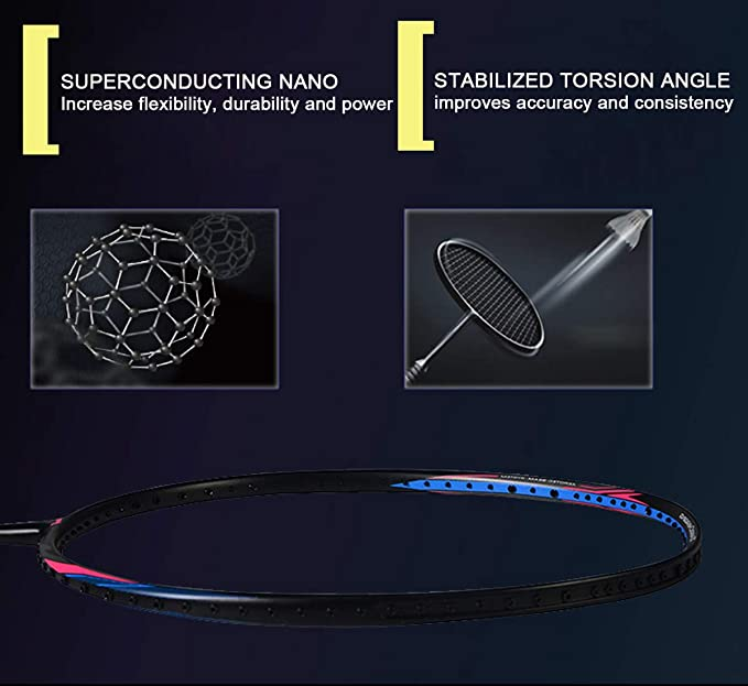 Amazon.com : LI-NING Turbo Charging 20 Single Training Badminton Racket Carbon Fiber Equipment Sports Racket Without Line : Sports & Outdoors