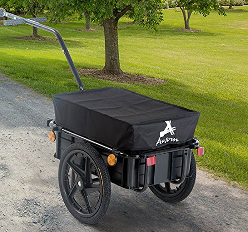 Aosom Enclosed Bicycle Cargo Trailer - Black by Aosom (Image #2)