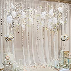 OFILA Wedding Backdrop 8x8ft Romantic Flowers Bride Groom Portraits Wedding Reception Decoration Love Engagement Party Background Sweet Anniversary Photos Bridal Shower Shoots Studio Props