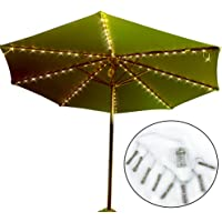 Amazon best sellers best patio umbrella lights patio umbrella lights koffmon 8 lighting mode 104 led with remote control umbrella lights battery aloadofball Gallery