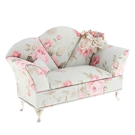 Fityle 1/6 Scale Pink Velvet Sofa Couch Furniture Barbie Doll 12u0027u0027 Hot