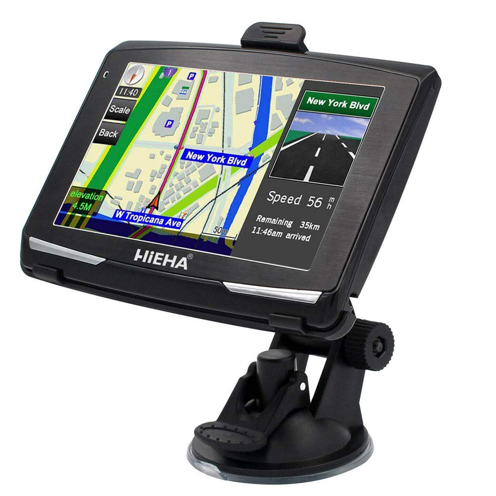 Satellite Navigator Device with Post CodeSearch,Pre-installed UK and EU Latest 2019 Maps with Lifetime Free Updates Aonerex Car Sat Nav GPS Navigation System 7 inch HD Touch Screen