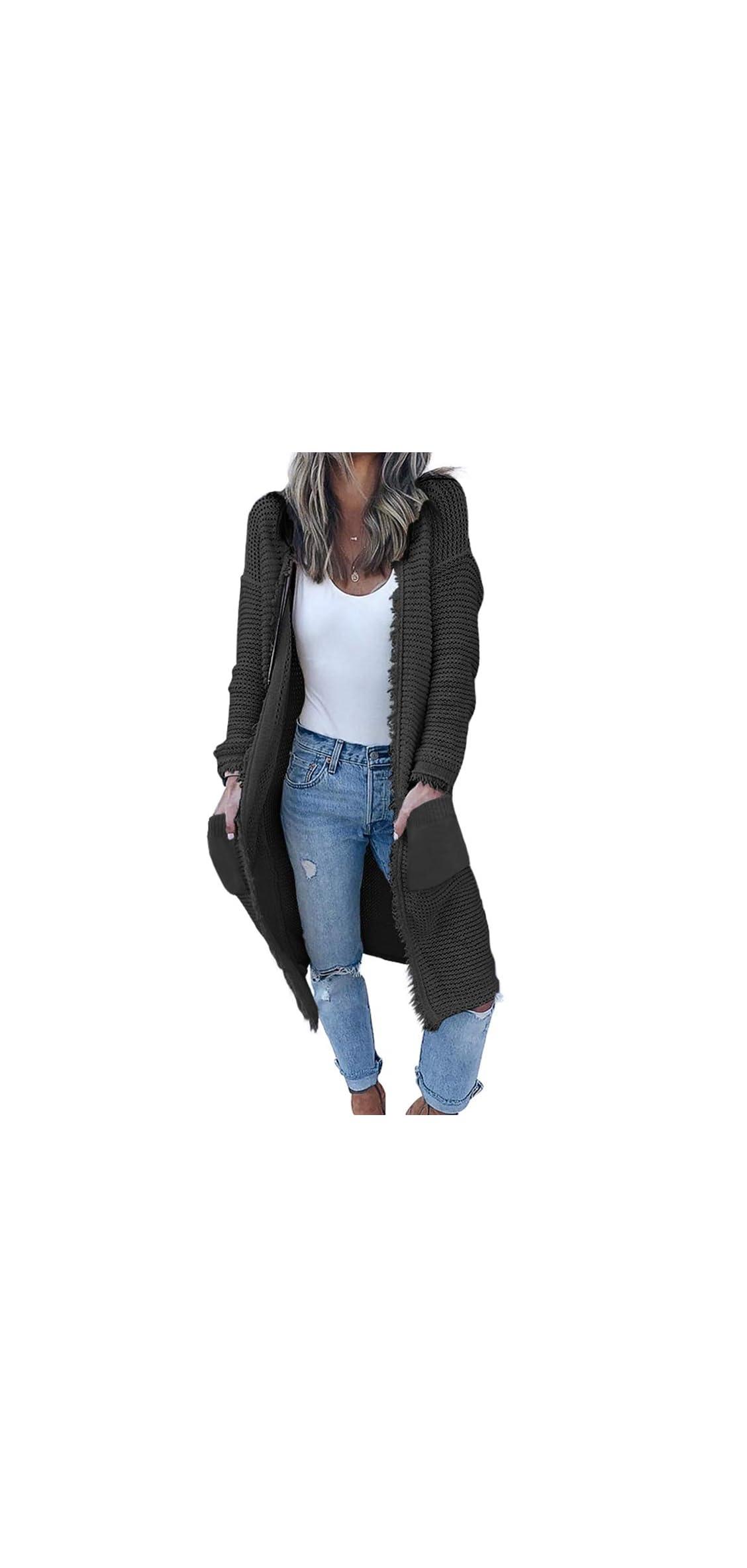 Women's Casual Cardigan Sweaters Cozy Open Front Long