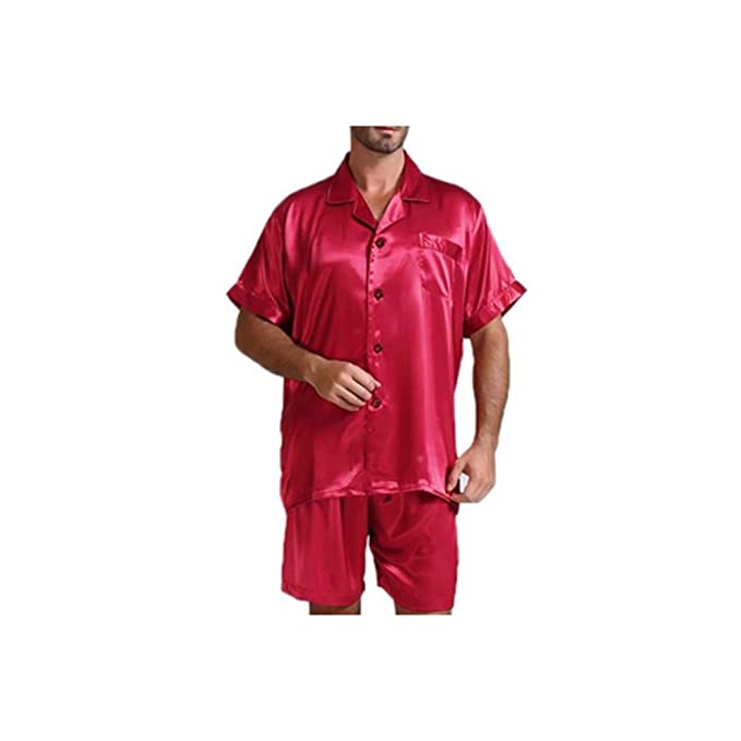 Amazon.com: Silk Satin - Conjunto de pijama para hombre ...