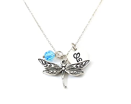 Handmade dragonfly necklace or pendant