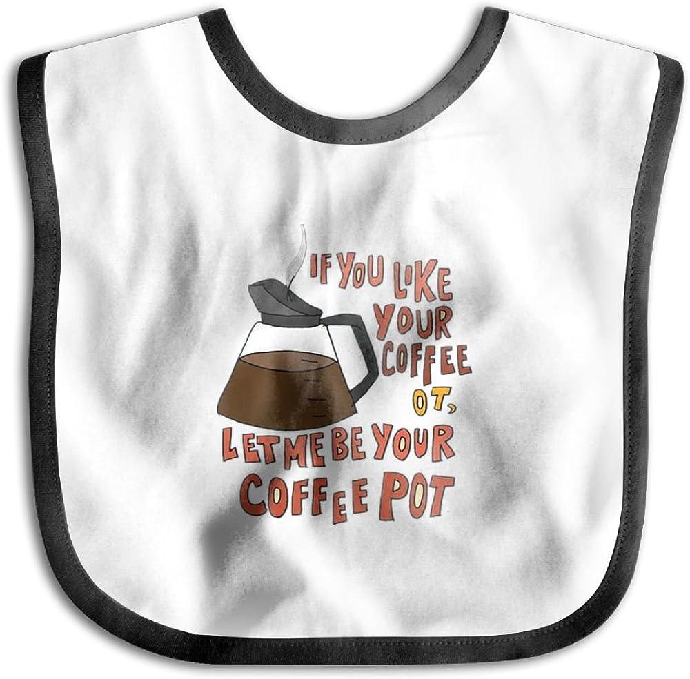 Marima Be Your Coffee Pot Personalized Scarf Bib Feeding /& Teething Fancy Baby Bibs and Burp Cloth