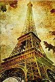 Startonight Canvas Wall Art Paris Eiffel Tower, Cities USA Design for Home Decor, Dual View Surprise Artwork Modern Framed Ready to Hang Wall Art 31.5 X 47.2 Inch 100% Original Art Painting!