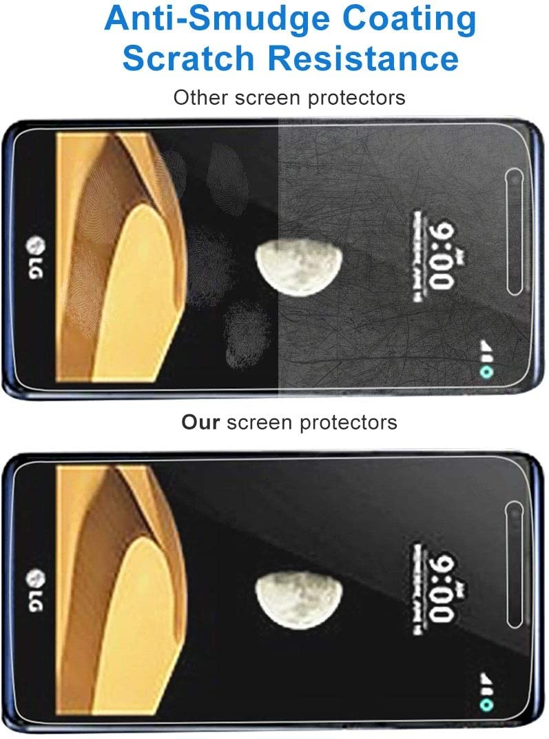 Leya Tempered Glass Flim 50 PCS 9H 2.5D Tempered Glass Film for LG X max