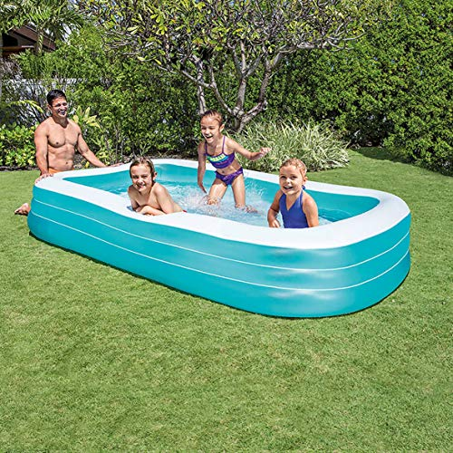 Intex Swim Center Family Inflatable Pool, 120 X 72 X 22, for Ages 6+