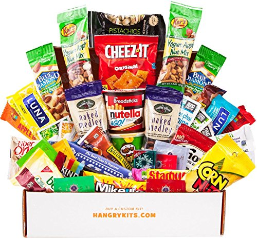 HANGRY KIT - Woman kit - Care Package - Gift Pack - Variety of 42 Bars, Teas, Candies,Cookies and other Snacks Included - 100% Guaranteed (Sick Care Package Ideas)