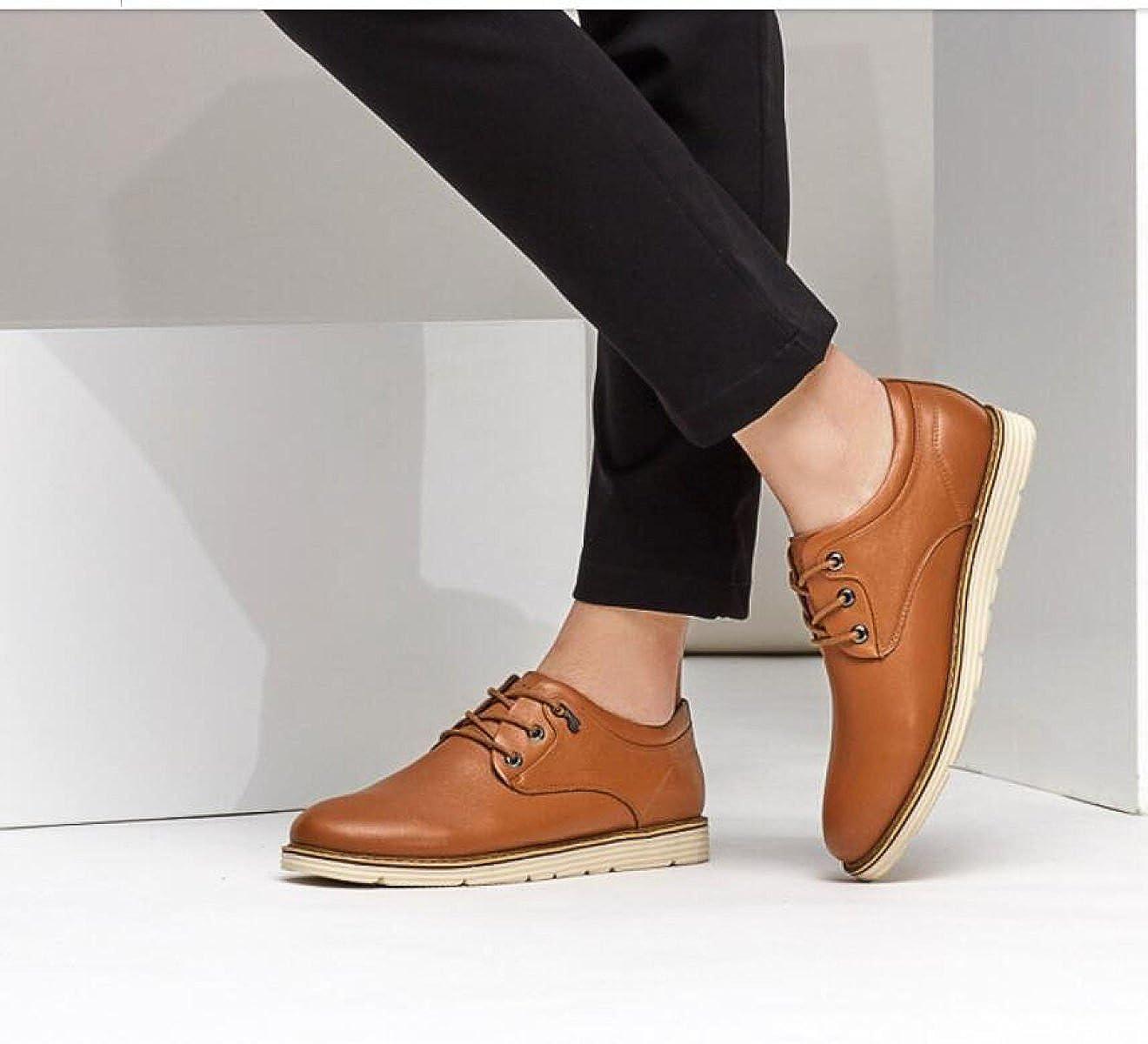 MUYII Oxfords Kleid Schuhe Für Männer Männer Männer Handgefertigte Herren Lace Up Plain Toe Business Lederschuhe Klassische Casual Mens Rutschfeste Bequeme Schuhe  e78747