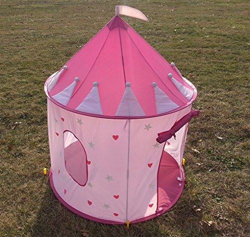 [Mememall Fashion Tent Children Pink Princess Castle Play House Girl House Playhouse Hearts Stars] (Girls Rockin Witch Costumes)