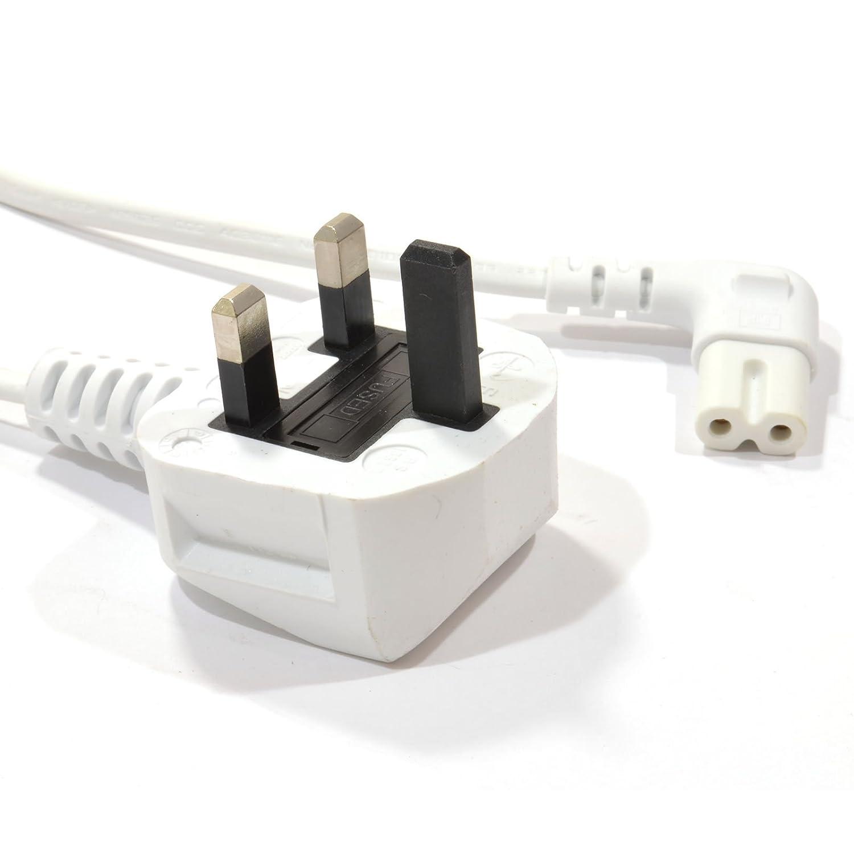 Black pro elec Invero 2 m Power Mains Kettle Cable