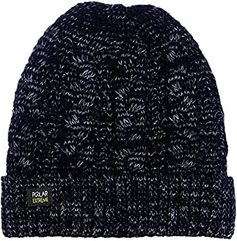 Womens Polar Extreme Insulated Thermal Knit Cuffed Beanie in 4 Great Colors (Navy Blue)