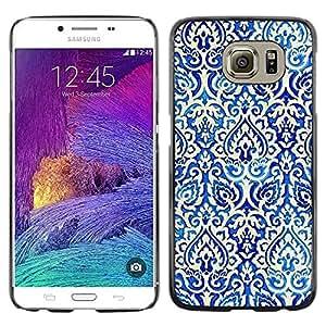 Be Good Phone Accessory // Dura Cáscara cubierta Protectora Caso Carcasa Funda de Protección para Samsung Galaxy S6 SM-G920 // Poker Pattern Wallpaper White